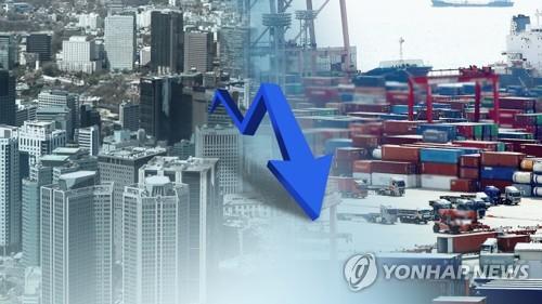 마이너스 충격에 성장률 전망 하향일로…2% 초반 다수 (CG) [연합뉴스TV 제공]