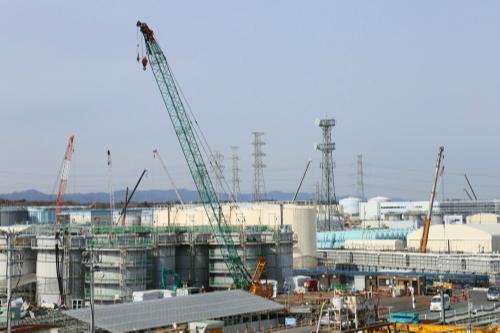 폐로 작업이 진행 중인 후쿠시마(福島) 제1원전의 전경. 후쿠시마 원전을 운영하는 도쿄전력은 폐로까지 앞으로 30~40년은 더 걸릴 것이라고 예상했다. 연합뉴스