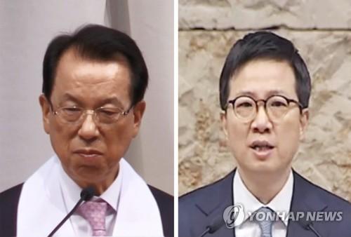 명성교회목사 김삼환 김하나 [연합뉴스 DB, 명성교회 유튜브 캡처]