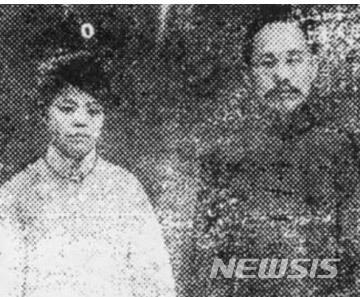 【서울=뉴시스】박자혜(왼쪽)와 신채호의 모습.(사진=국가보훈처 제공)