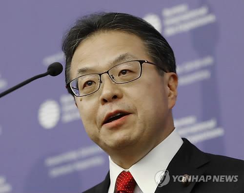 세코 히로시게 경제산업상 [연합뉴스 자료사진]