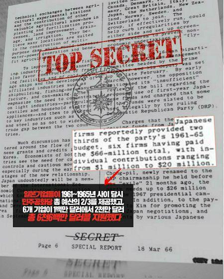 1966년 3월 18일자 미 중앙정보국(CIA) 특별보고서 '한일관계의 미래' 중 일부. (그래픽=강보현PD)