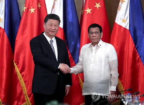 中-필리핀, 남중국해 원유 공동탐사 합의 [신화=연합뉴스 자료 사진]