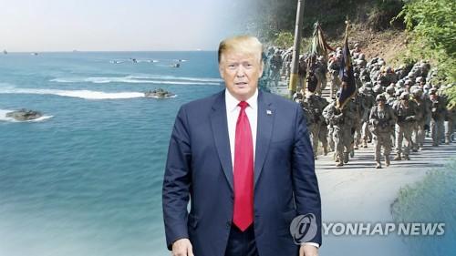 """美국무부 """"동맹 방위비 더내야…대통령 입장 분명"""" (CG) [연합뉴스TV 제공]"""