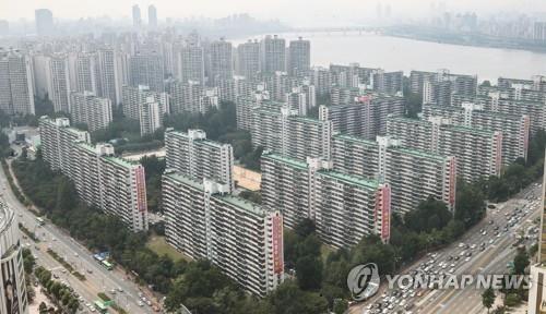 서울 송파구 일대의 아파트 단지 전경 [연합뉴스 자료사진]