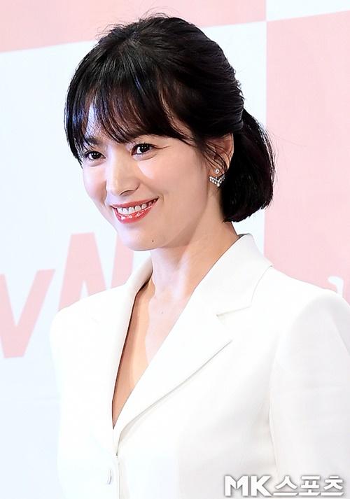 송혜교가 핑클 이효리와 이진의 우정을 응원했다. 사진=김영구 기자