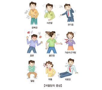 저혈당 증상들 [출처: 서울아산병원]