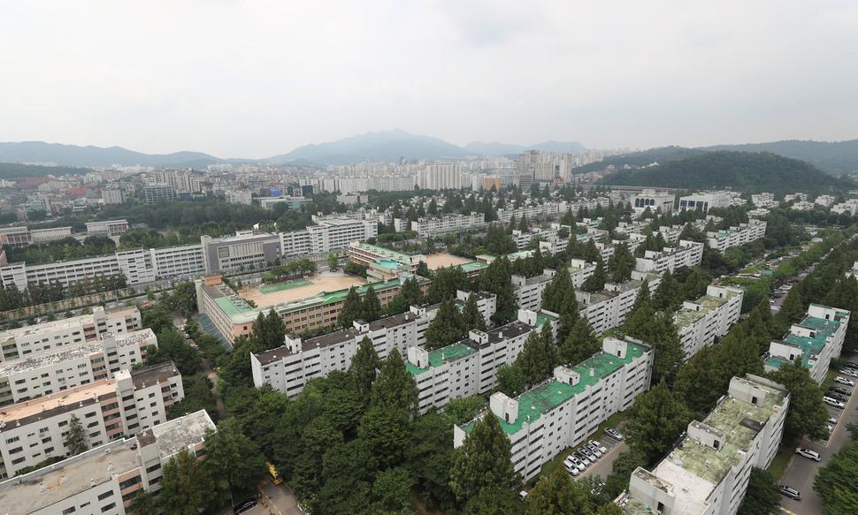 서울 재건축 아파트 전경. 신소영 기자 viator@hani.co.kr