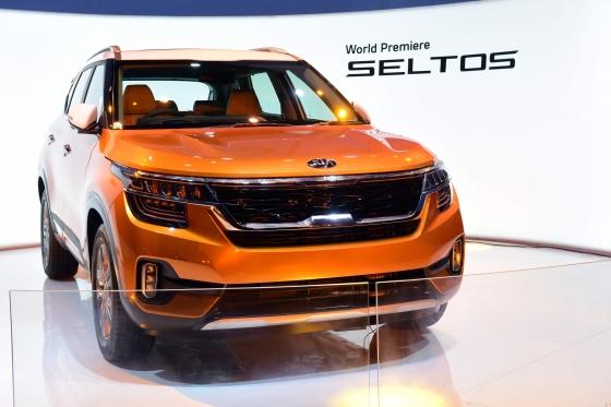 20일 인도에서 세계 최초 공개된 기아자동차 소형 SUV 셀토스. /사진제공=기아차
