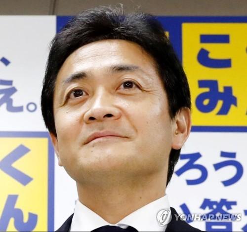 일본 국민민주당 다마키 유이치로(玉木雄一郎) 대표 [도쿄 교도=연합뉴스]