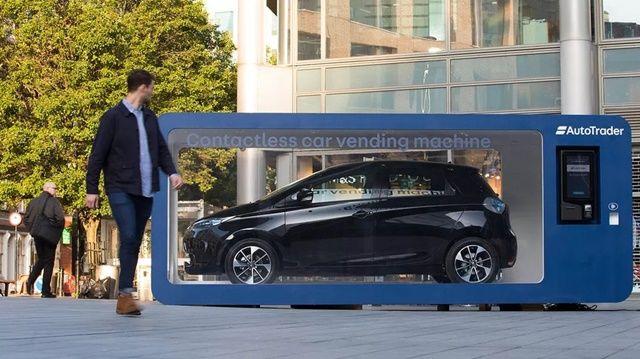 스마트폰으로 결제하는 자동차 자판기가 영국에 등장했다. (사진=오토트레이더)