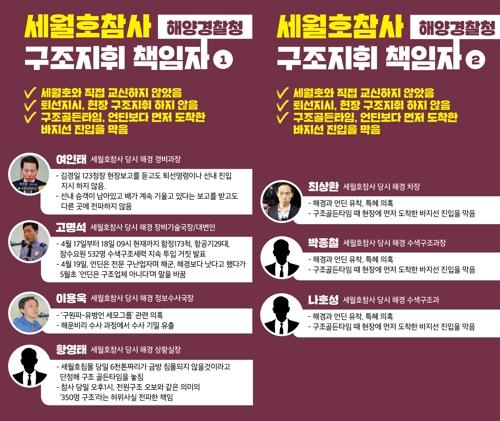 세월호 단체, 참사 당시 해경 관계자들 '구조지휘 책임자' 지목 [4월 16일의 약속 국민연대 제공'