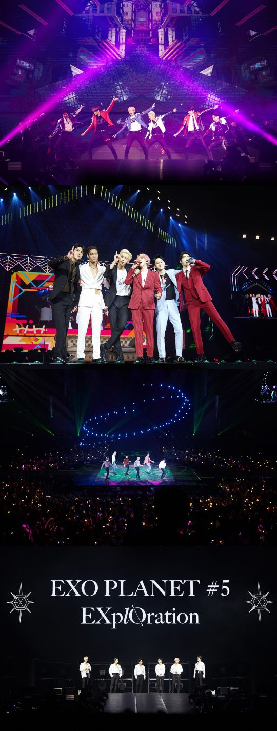 <p>Group EXO with Manila Concert to help successfully finished.</p><p>EXO fifth solo Concert 'EXO Planet #5 – Explorer collection – Internet Manila(EXO PLANET #5 – EXplOration – in MANILA) for the last 23~24, Philippines Manila Mall of Asia Arena unfolded on it.</p><p>Especially for this Concert is approximately 1 year and 4 months in the open EXOs Manila solo Concert as much as it is, the first scheduled for 1 gig local fanss heated response with a ticket Open at the same time sold records and 1 times to add a total of 2 circuits spread EXOs high popularity once again confirmed the application had.</p><p>This day, EXO is the colorful music and performance, engaging with high-quality performances as the audience was enthusiastic.</p><p>'Tempo'to the performances of the beginnings EXO is the 'growl' 'addiction' 'call us baby(CALL ME BABY)' 'Monster(Monster)' and the hit song from 'Love Shots(Love Shot)' 'touching moment' 'so City(Gravity)' 'after the storm' 'damage(Damage)' and the regular 5 home and repackage album tracklist stage, each with a different personality filled solo and unit stage up to a total of 23 songs to explosive Cheers was obtained.</p><p>Also the seats filled with the audience is a Philippines national flag colors of yellow, red, blue, white 4 kinds of color dress code by wearing tailored LED cheer Bong-waving performances enthusiastically enjoyed him. Local fans 'IN THE NAME OF Love, EXO'(in the name of love, EXO), 'EXO Mahal kita'(EXO love)the phrase contains the slogan, the event also featured the heart-warming, including more.</p><p>EXO 9 15 Singapore Indore Stadium in 'EXO PLANET #5 – EXplOration – in SINGAPORE'to hold.</p>