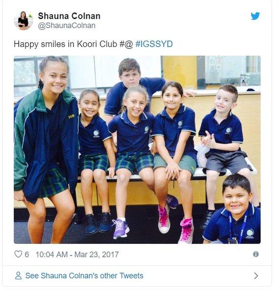 호주 시드니 IGS 학생들이 성중립 교복을 입고 있는 모습. [사진 트위터]
