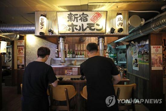 일본식 선술집 내부 모습