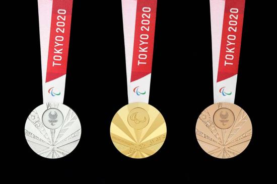 욱일기 문양을 연상케 한다는 논란이 불거진 2020 도쿄 패럴림픽 메달[사진=도쿄올림픽·패럴림픽 조직위원회 홈페이지]