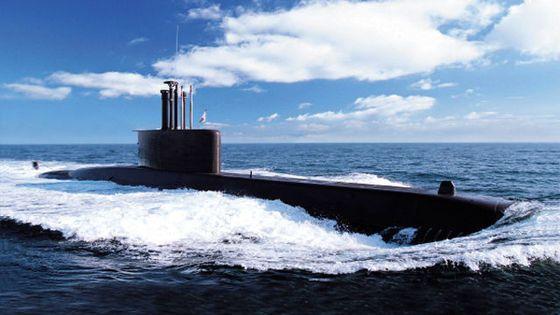 작전 중인 209급(장보고급) 잠수함. [사진 해군]