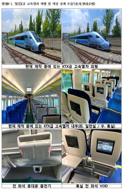 KTX급 고속열차 [하태경 의원, 현대로템 제공]