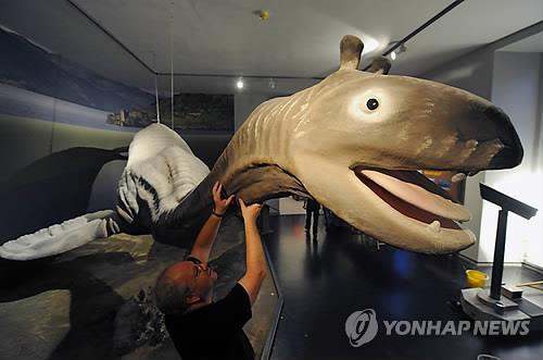 독일 카셀 자연사박물관이 목격자 증언을 토대로 만든 괴물 '네시' 모형 [EPA=연합뉴스]