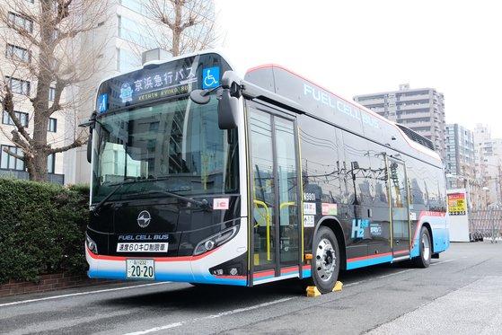 수소 연료전지로 이동하는 '수소 버스' [게이힌 급행버스 제공]