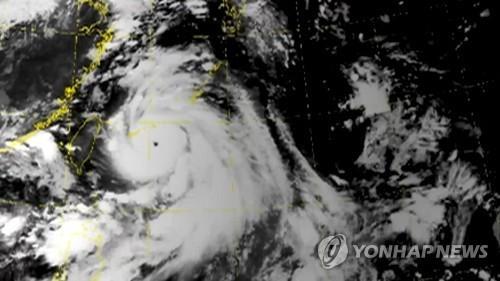 태풍 '링링' 위성사진 [연합뉴스TV 제공]