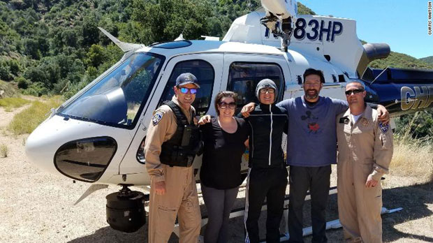 지난 6월 16일, 윗슨 가족은 고립 닷새 만에 무사히 구조됐다./사진=캘리포니아 고속도로 순찰대