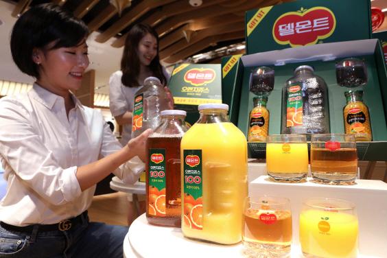 롯데백화점, '옛날 유리병' 델몬트 출시 (사진=연합뉴스)
