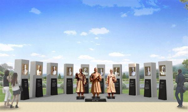 왕산 허위 선생 등 14인 독립운동가 동상 조감도. 구미경실련 제공