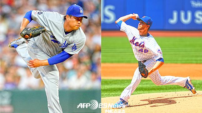 류현진과 디그롬, 2019 MLB 내셔널리그 사이영상 경쟁자들이 맞대결에 나란히 7이닝 무실점으로 호투했다. 사진=AFPBBNews=News1