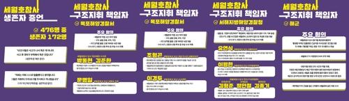 세월호 단체, '구조지휘 책임' 해경 관계자 명단 발표 [4월 16일의 약속 국민연대 제공]