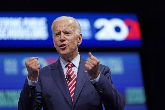 민주당 대선 후보 경선에서 선두를 지키고 있는 조 바이든 전 부통령. AP뉴시스