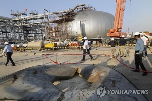 복구작업 한창인 사우디아라비아 아람코 석유시설 [AP=연합뉴스]