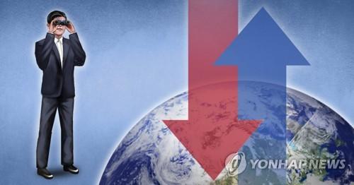 세계 경제성장률 전망(PG) [이태호 제작] 사진합성·일러스트