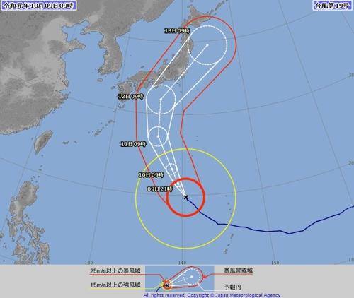 일본 기상청(JMA)의 태풍