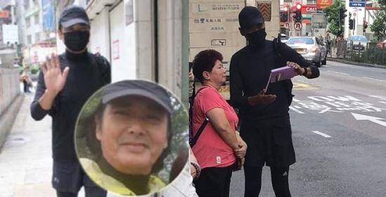 SNS에서 퍼지고 있는 검은 마스크 쓴 주윤발의 모습. 출처=트위터