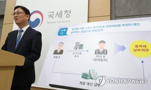국세청 미성년자 자금출처 조사 [연합뉴스 자료사진]