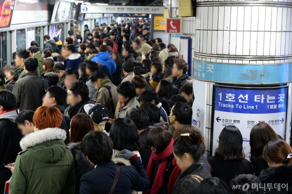 '운행 축소' 지하철 파업, 퇴근길이 걱정이네