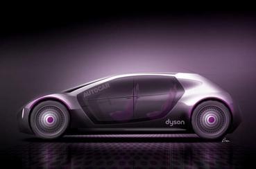 다이슨이 만든 전기자동차를 상상한 그림 중 하나. 현재 해당 전기차 개발 프로젝트는 그만 둔 상태다. / 트위터 캡처