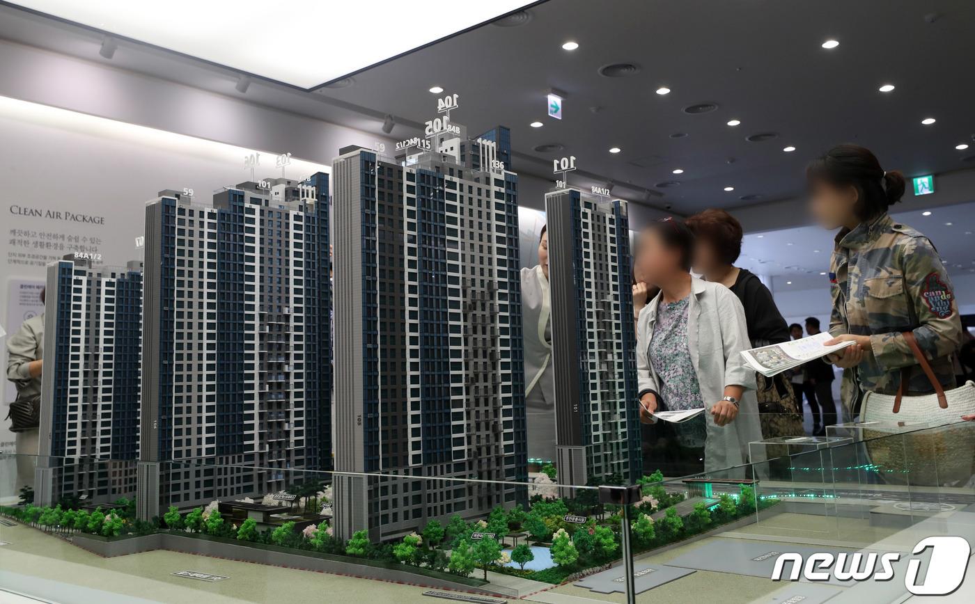 서울의 한 새 아파트 모델하우스 모습.(자료사진)© News1 이동해 기자