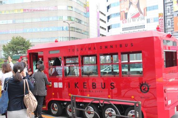 도쿄 도시마구가 도시 이미지 개선을 위해 도입한 이케버스. 사진=조은효 특파원