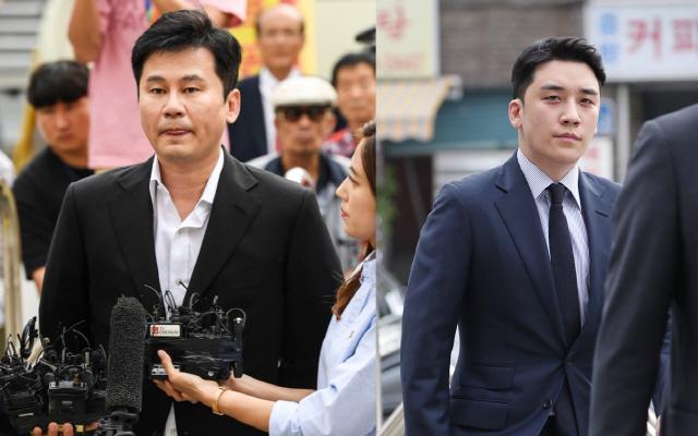 양현석, 승리. 사진=스포츠조선DB, 연합뉴스