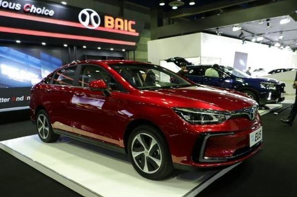 지난 5월 서울 삼성동에서 열린 'EV 트렌드 코리아'에 전시된 베이징자동차의 전기차 세단 EU5/진상훈 기자