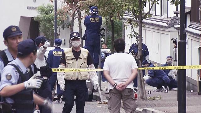 지난 10일 일본 고베에서 '고베 야마구치구미' 폭력단원들을 상대로 벌어진 총격 현장 (출처:SUN-TV 캡처)