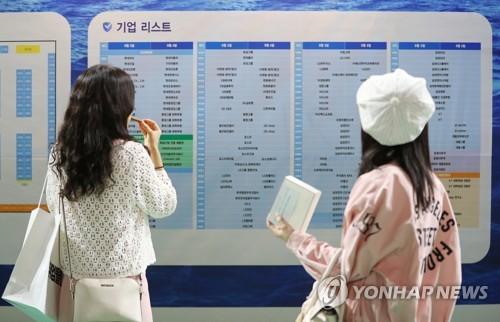 지난 9월 서울의 한 대학에서 열린 취업박람회 [연합뉴스 자료사진]
