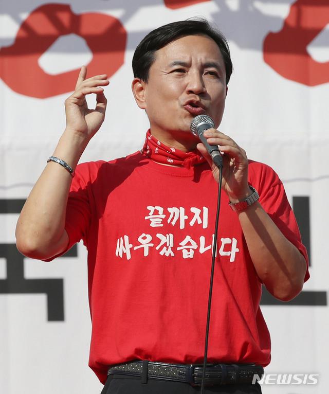 【서울=뉴시스】박미소 기자 = 자유한국당 김진태 의원.2019.10.19.  misocamera@newsis.com