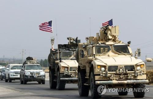 시리아를 떠나 21일 이라크 북부 도후크 주에 도착한 미군 [AFP=연합뉴스]