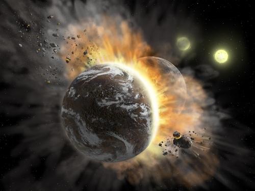 쌍성계 BD +20 307의 행성 간 충돌 상상도 [NASA/SOFIA/L.쿡 제공]
