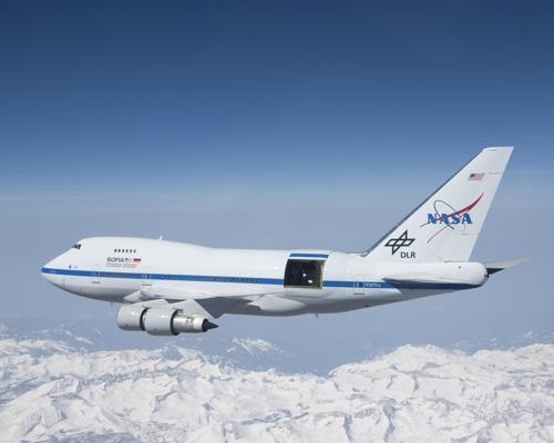 보잉 747기를 개조한 성층권적외선천문대 SOFIA [ NASA/J.로스 제공]