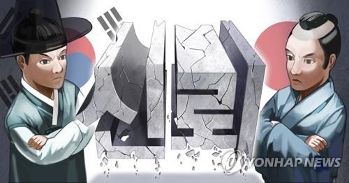 日韓の信頼関係の危機(PG)[チョン・ヨンジュ製作]イラスト