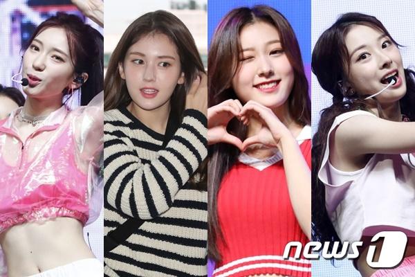 로켓펀치 수윤(왼쪽부터), 전소미, 이달의 소녀 최리, 로켓펀치 윤경© 뉴스1
